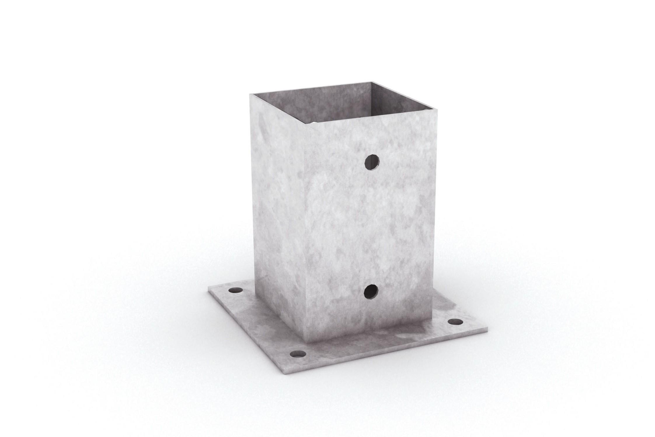 supports de poteaux carr s fixer tootan. Black Bedroom Furniture Sets. Home Design Ideas